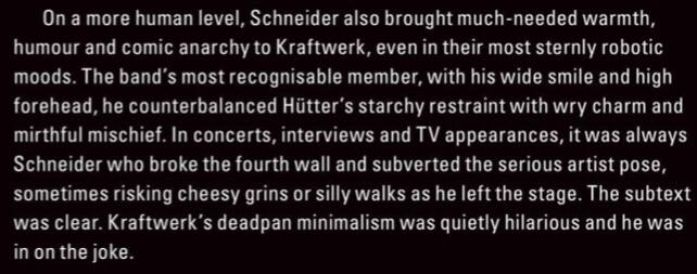 """Florian Schneider, """"sonic perfectionist"""""""
